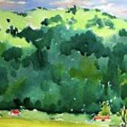 Close Mountains Art Print