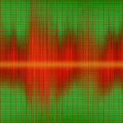 Close-up Of Sound Waves Art Print