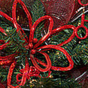 Close-up Of Toys On Christmas Tree Art Print