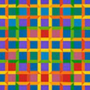 Closed Quadrilateral Lattice Art Print
