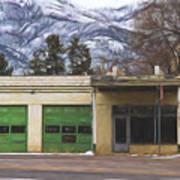 Closed Service Station Painterly Impressions Art Print