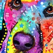 Closeup Labrador Art Print