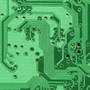 Closeup Of A Motherboard Art Print