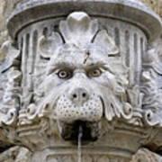 Closeup Of A Public Fountain In Dubrovnik Croatia Art Print