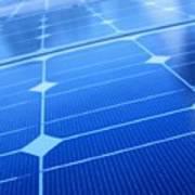 Closeup Of Solar Panels Art Print