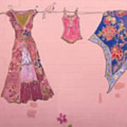 Clothes Line Mural Burlington Vermont Art Print
