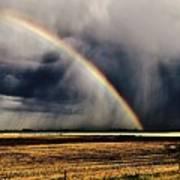 Cloud Burst And Rainbow Early Spring Storm Art Print