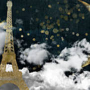 Cloud Cities Paris Art Print