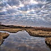 Cloud Covered River 2 Art Print