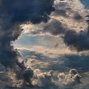 Cloud Formations Boiling Up Art Print