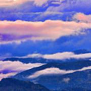Cloud Layers At Sunset Art Print
