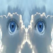 Cloud Mask Art Print