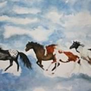 Cloud Runners Art Print