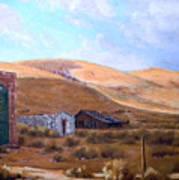 Cloud Shadows Over Bodie California Art Print by Evelyne Boynton Grierson