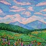 Cloud Swirl Over The Peaks Of Otter Art Print