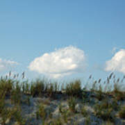 Cloud Trio And Dunes - Huntington Beach Sc Art Print