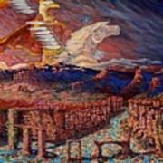 Cloud Warrior Art Print