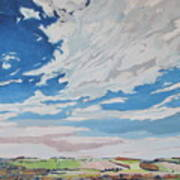 Clouded Sky On The Valley Art Print