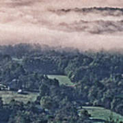 Clouds Above The Valley Panoramic Art Print