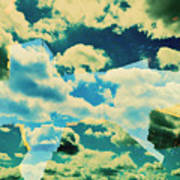 Clouds And Nyc Art Print