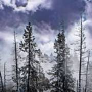 Clouds And Snow Swirling Art Print
