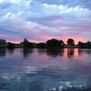 Clouds And Sunset Reflection In Prosser Art Print