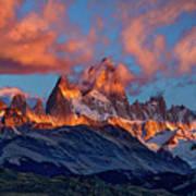 Clouds Around Fitz Roy - Patagonia Art Print