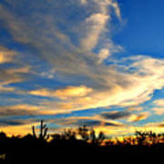 Clouds At Sunset Art Print