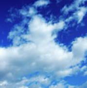 Clouds In A Beautiful Blue Sky Art Print