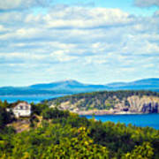 Clouds Over Acadia Art Print