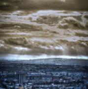 Clouds Over Bristol Hdr Split Toning Art Print