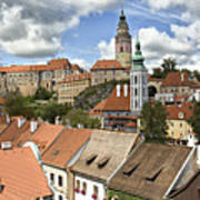 Clouds Over Cesky Krumlov Art Print