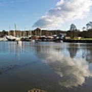 Clouds Over Cockwells Boatyard Mylor Bridge Art Print