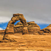 Clouds Over Delicate Arch Art Print