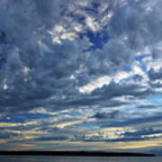 Clouds Over English Bay From Sunset Beach Vancouver Art Print
