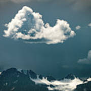 Clouds Over Glacier, Banff Np Art Print