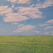 Clouds Over Green Field Art Print