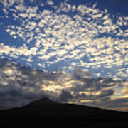 Clouds Over Mount Slievemore Art Print