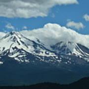 Clouds Over Mt Shasta Art Print