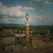 Clouds Over Siena Art Print