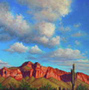 Clouds Over Superstitions Art Print