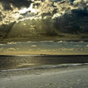 Clouds Over The Bay Art Print