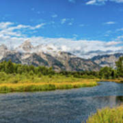 Clouds Over The Grand Tetons Art Print