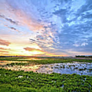 Clouds Over The Marsh 4 Art Print