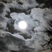 Clouds Over The Moon Art Print