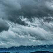Clouds Over The Mountans 1329tmt Art Print