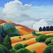Clouds Over Windy Hill Art Print
