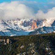 Clouds Receding On Pikes Peak Art Print