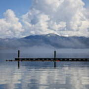 Clouds Reflecting Off Priest Lake Art Print