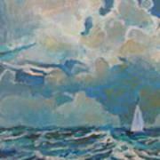 Clouds Sails Art Print